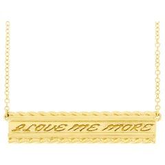 Valentin Magro Yellow Gold I Love Me More Bar Pendant
