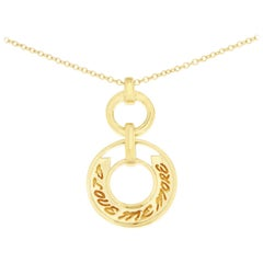 Valentin Magro Yellow Gold I Love Me More Circle Pendant