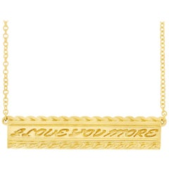 Valentin Magro Yellow Gold I Love You More Bar Pendant