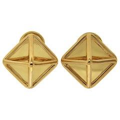 Valentin Magro Yellow Gold Medium Pyramid Earrings