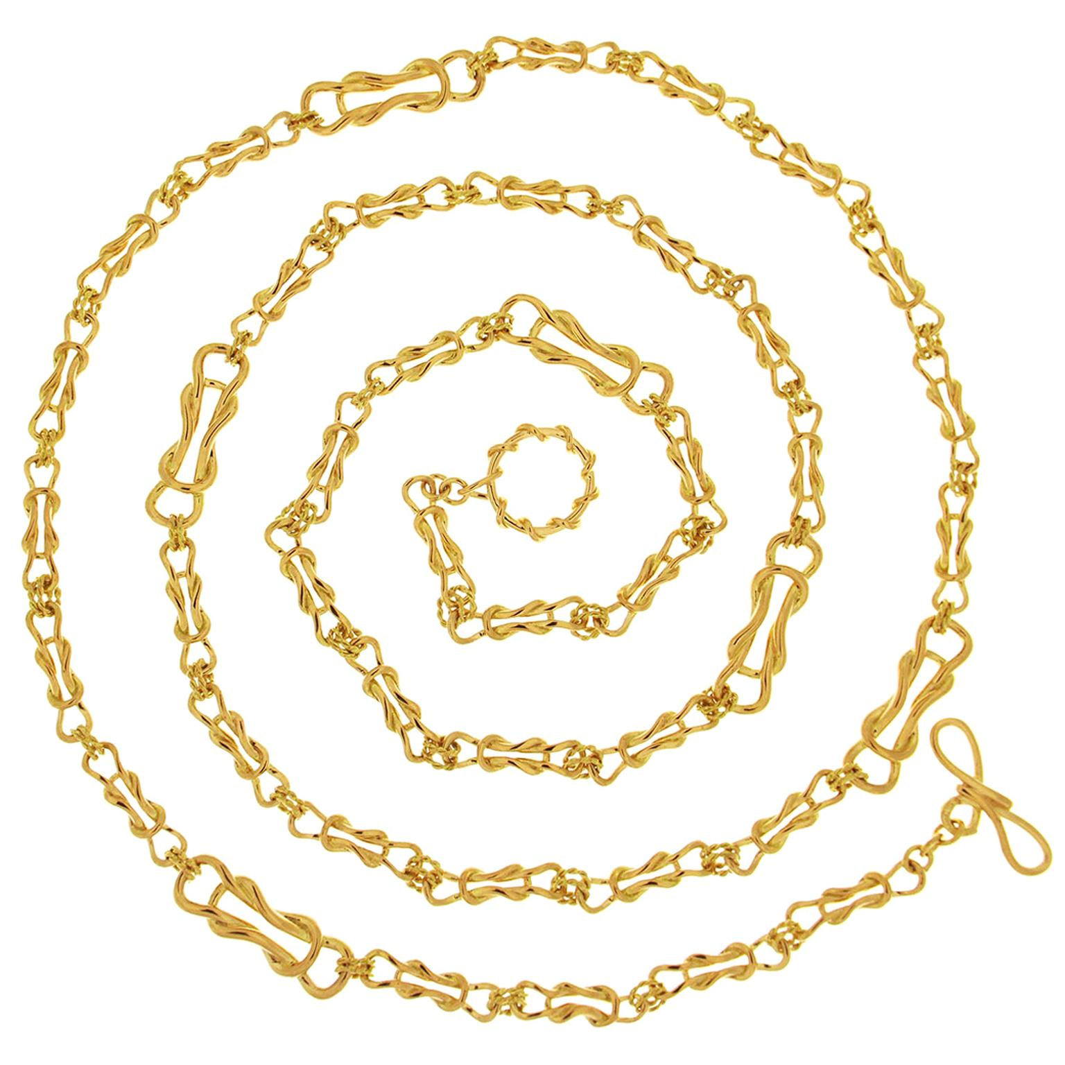 Valentin Magro Yellow Gold Nautical Necklace