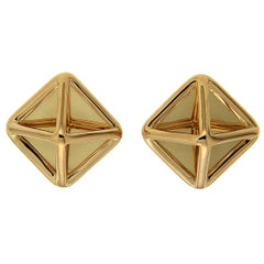 Valentin Magro Yellow Gold Small Pyramid Earrings