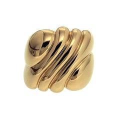 Valentin Magro Yellow Gold Wavy Ring