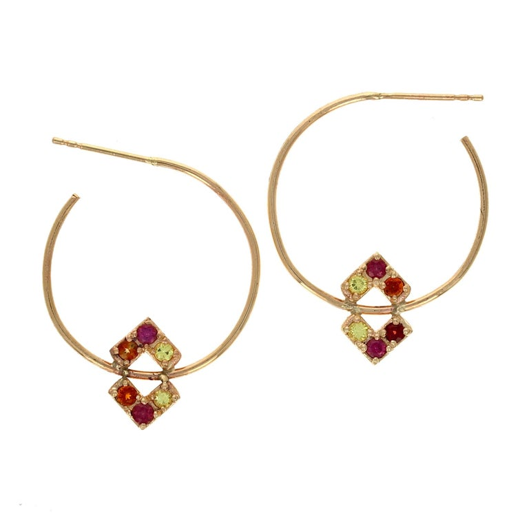Valentina 14 Karat Gold Shire Hoop Earrings For