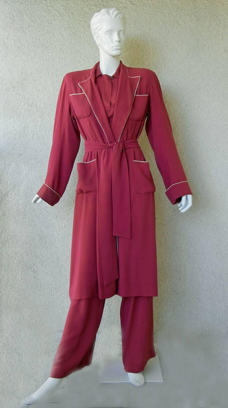 Valentina Katharine Hepburn Theatre Collection Jumpsuit Ensemble Museums, 1942 For Sale 2