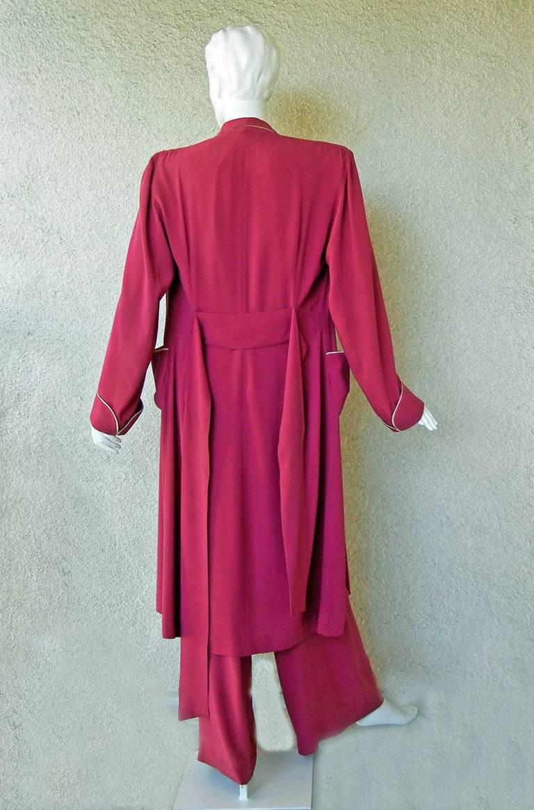 Valentina Katharine Hepburn Theatre Collection Jumpsuit Ensemble Museums, 1942 For Sale 3