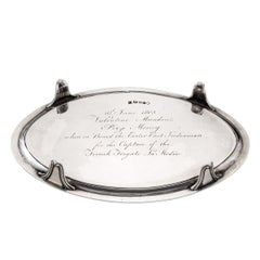 Valentine Munden's Prize Money Silver Salver, London, 1792