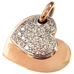 Valentine Pendant in Diamond and 18 Karat White and Rose Gold