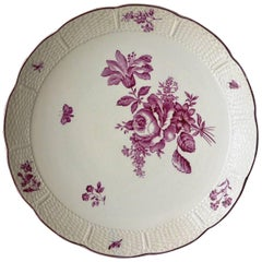 Pink and White Wedgwood Floral Cake Stand