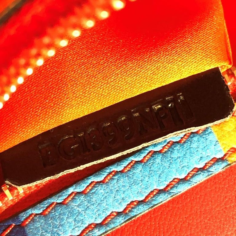 Valentino 1973 Rockstud Flap Clutch Striped Leather For Sale 2