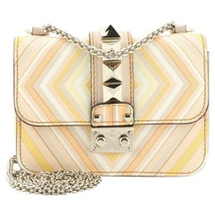 Valentino 1975 Glam Lock Shoulder Bag Striped Leather Mini