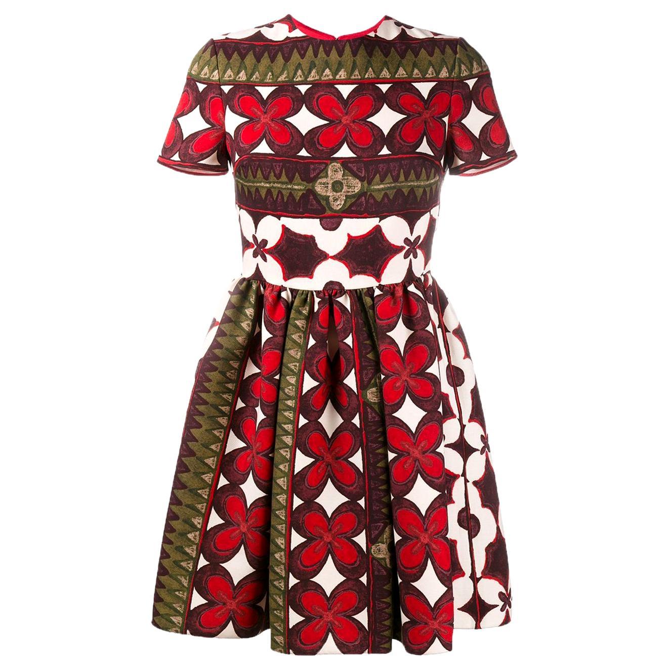 Valentino Bambolina Floral-Print Silk Mini Dress