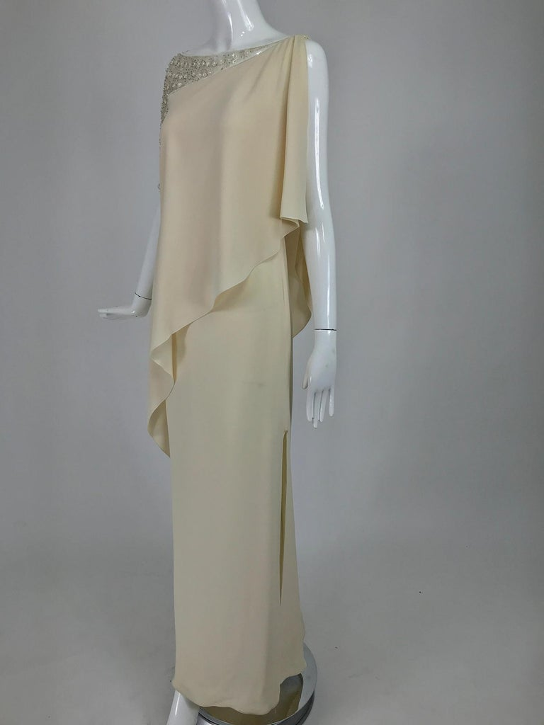 Valentino Beaded Chiffon Gown Worn By Marie-Chantal Miller at Valentino's 45th For Sale 5