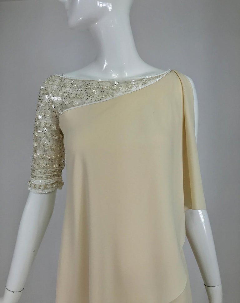 Valentino Beaded Chiffon Gown Worn By Marie-Chantal Miller at Valentino's 45th For Sale 6