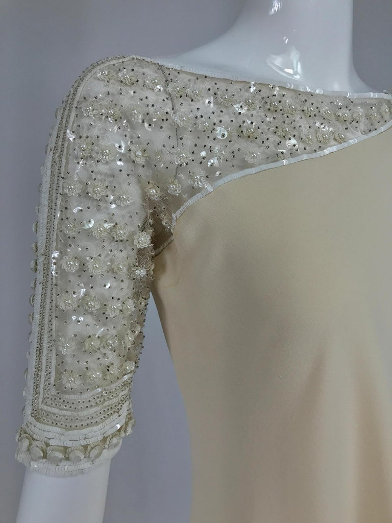 Valentino Beaded Chiffon Gown Worn By Marie-Chantal Miller at Valentino's 45th For Sale 7