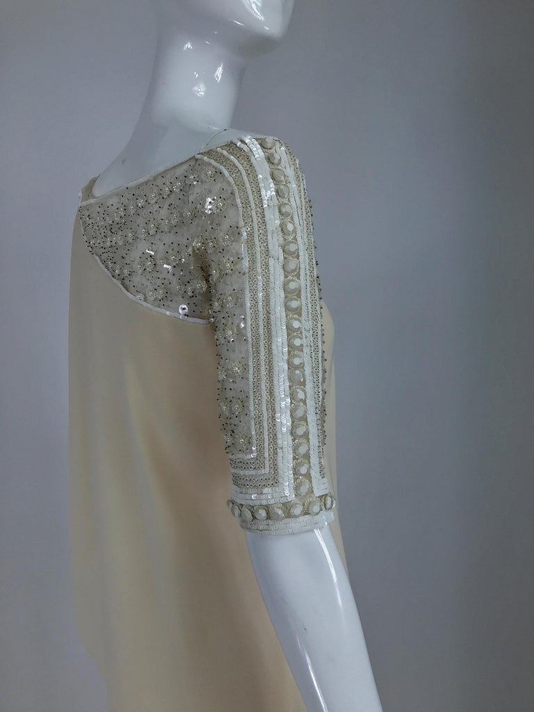 Valentino Beaded Chiffon Gown Worn By Marie-Chantal Miller at Valentino's 45th For Sale 9