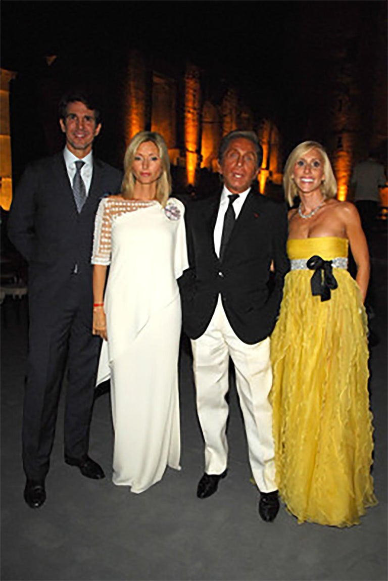 Valentino Beaded Chiffon Gown Worn By Marie-Chantal Miller at Valentino's 45th For Sale 11