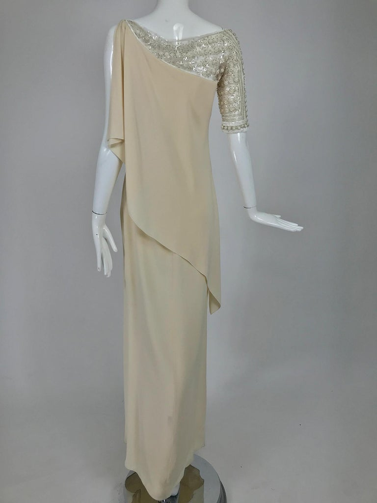 Valentino Beaded Chiffon Gown Worn By Marie-Chantal Miller at Valentino's 45th For Sale 1