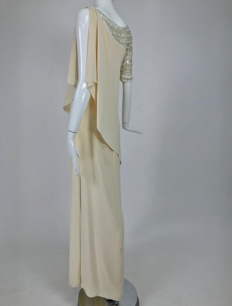 Valentino Beaded Chiffon Gown Worn By Marie-Chantal Miller at Valentino's 45th For Sale 2