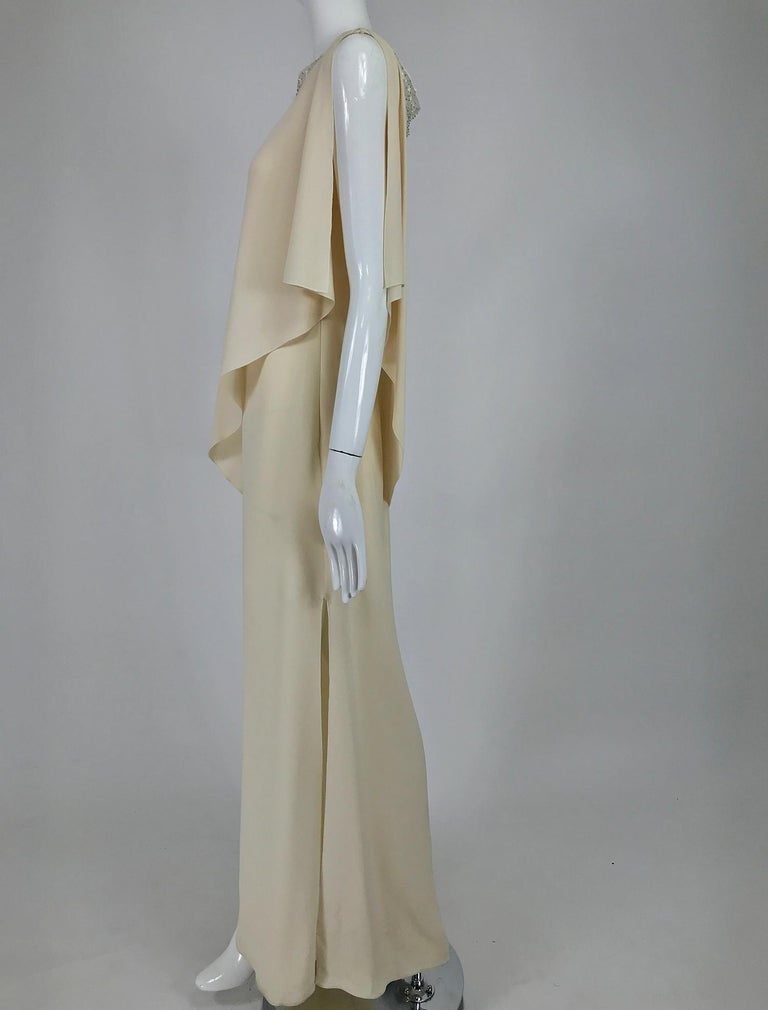 Valentino Beaded Chiffon Gown Worn By Marie-Chantal Miller at Valentino's 45th For Sale 3