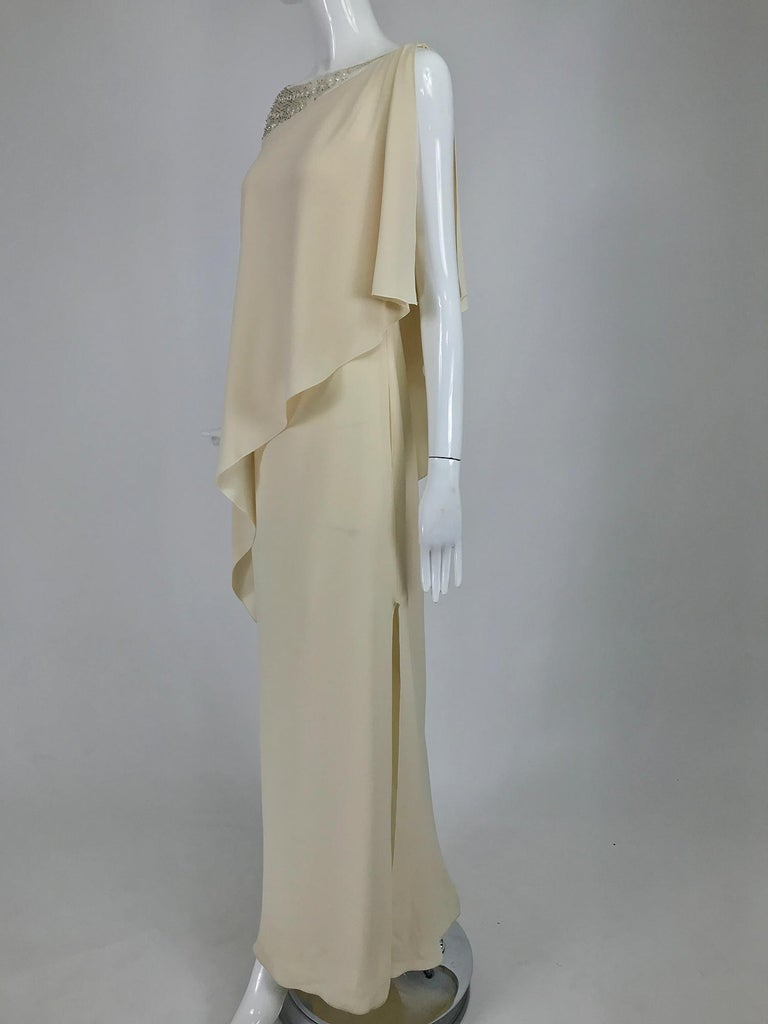 Valentino Beaded Chiffon Gown Worn By Marie-Chantal Miller at Valentino's 45th For Sale 4