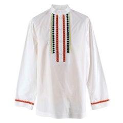 Valentino Beaded Mandarin Collar Shirt - Size S