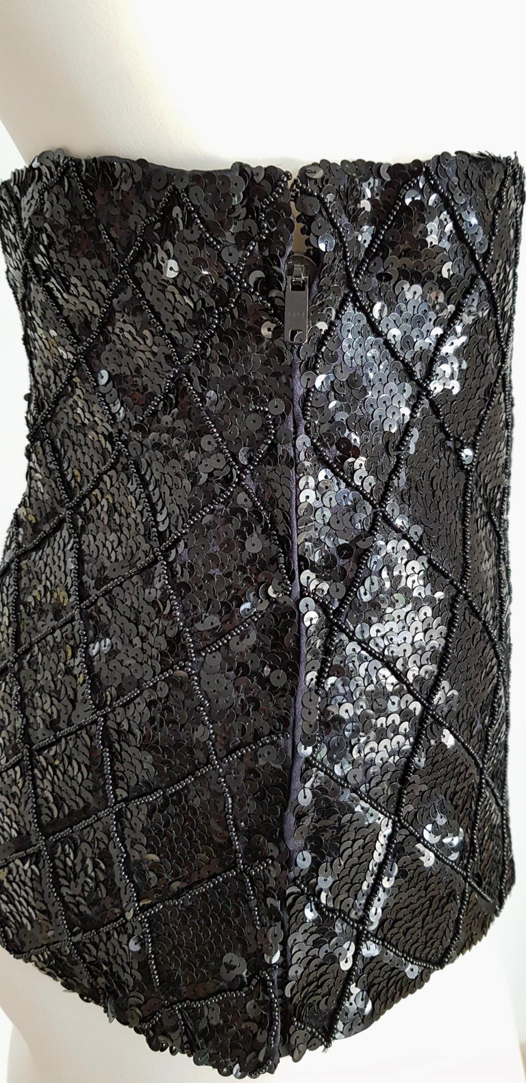 Women's VALENTINO Beads Sequins elegant Black Waist Band for Dress gown - Unworn, New  For Sale