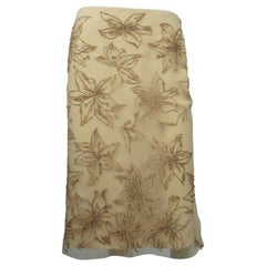 Valentino Beige Beaded Skirt - NWT