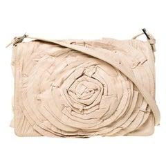 Valentino Beige Leather Petale Shoulder Bag