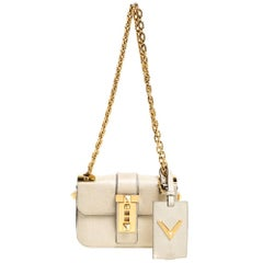 Valentino Beige Leather Small B-Rockstud Shoulder Bag