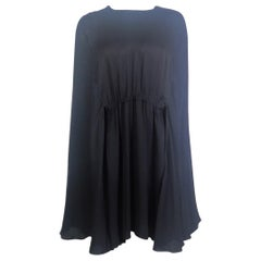 VALENTINO Black Cape Dress Size 42