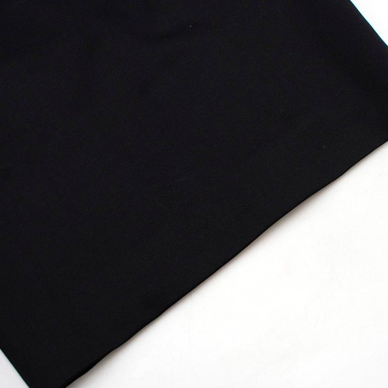 Valentino Black Fitted Bow Shoulder Wool Blend Dress - Size US 8 For Sale 4