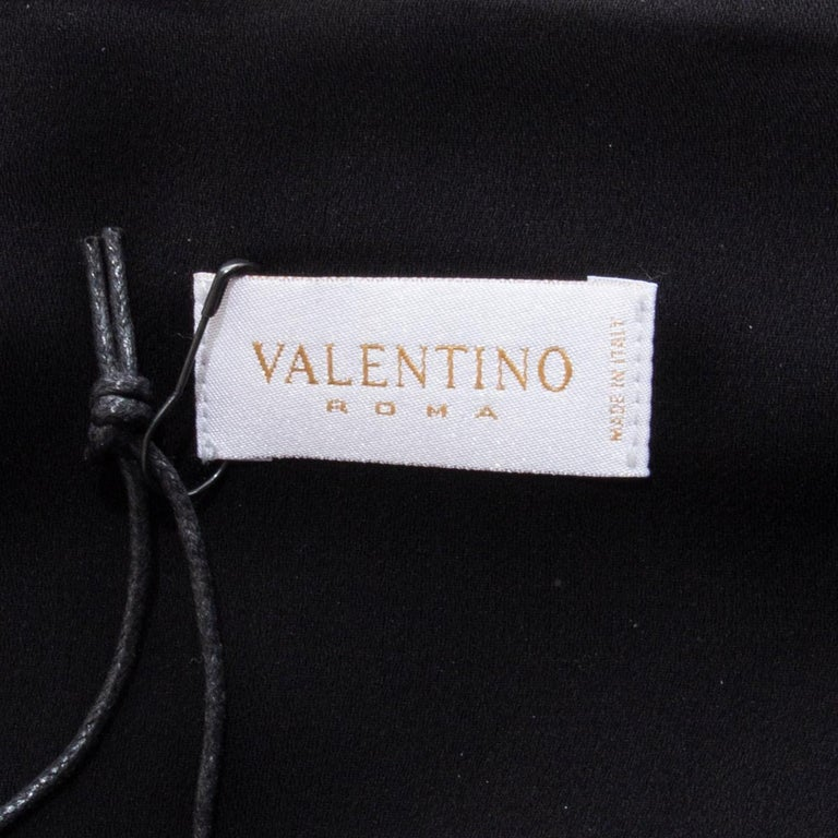 VALENTINO black HALTER EVENING GOWN MAXI Dress 40 For Sale 5