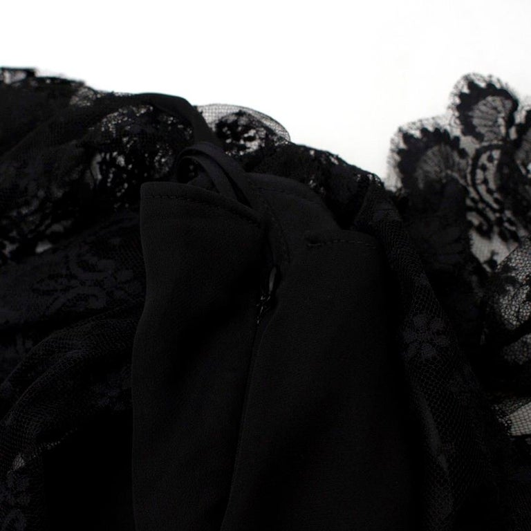 Valentino Black Lace Ribbon Tie Gown US 6 4