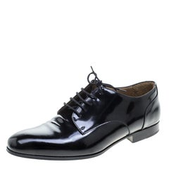 Valentino Black Leather Lace Up Derby Size 42
