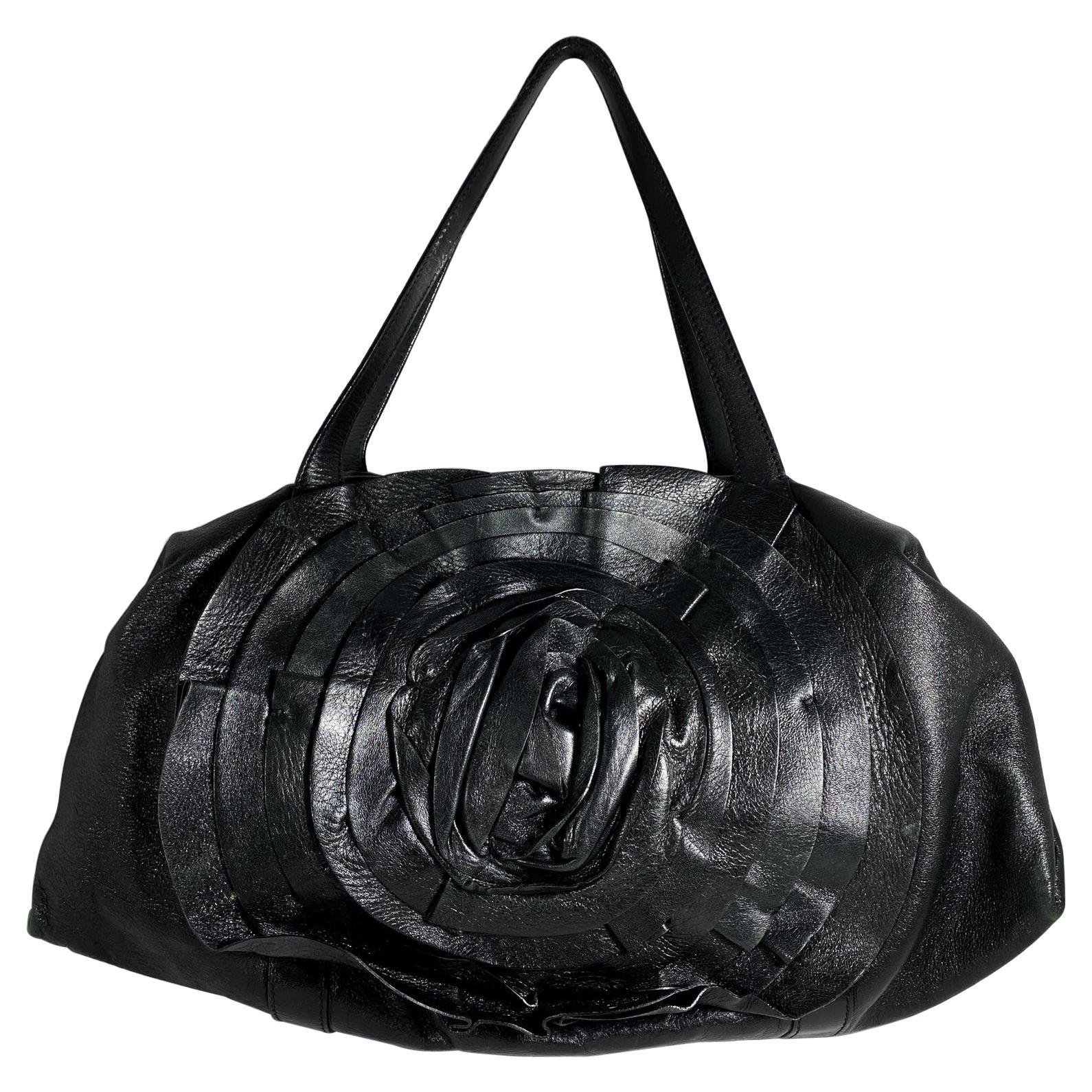 Valentino Black Leather Petale Bag