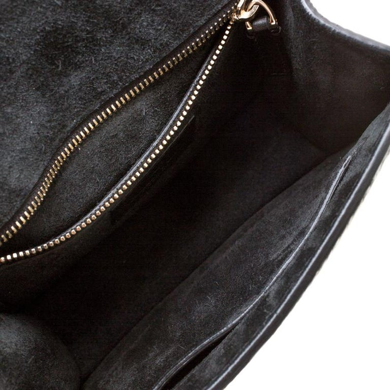 Valentino Black Leather Small Glam Lock Flap Bag For Sale 5
