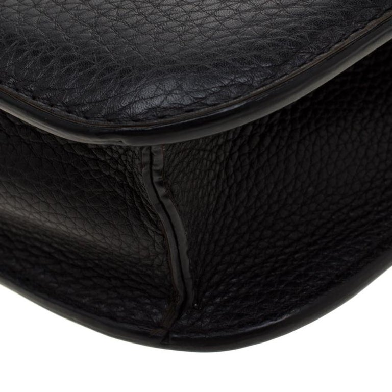 Valentino Black Leather Small Glam Lock Flap Bag For Sale 2