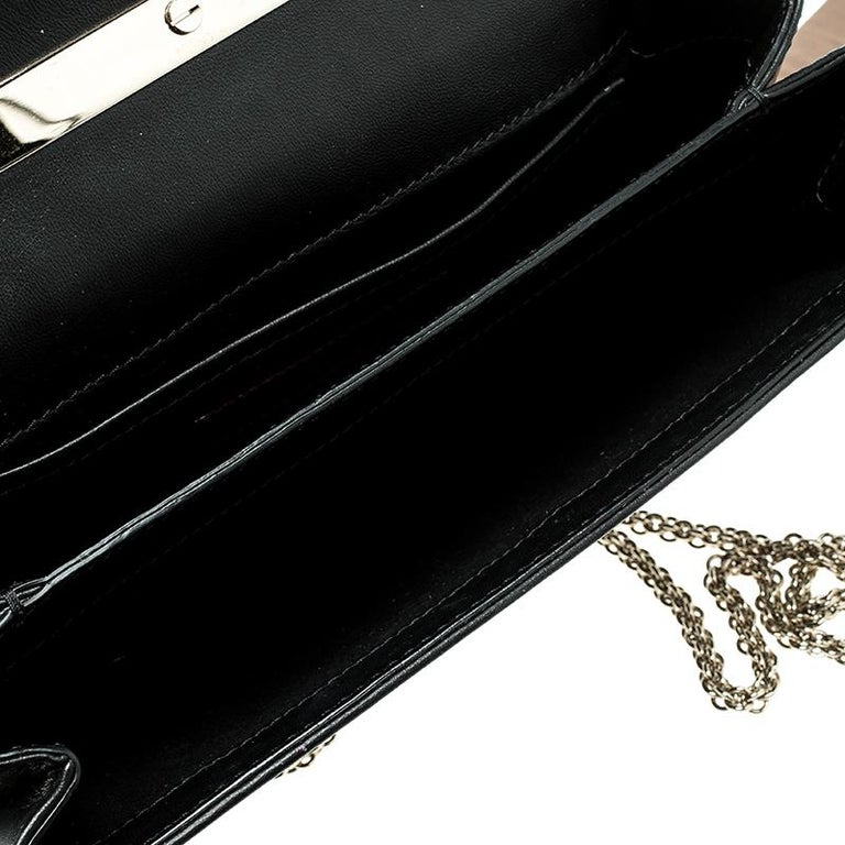Valentino Black Leather Studded Bow Crossbody Bag For Sale 3