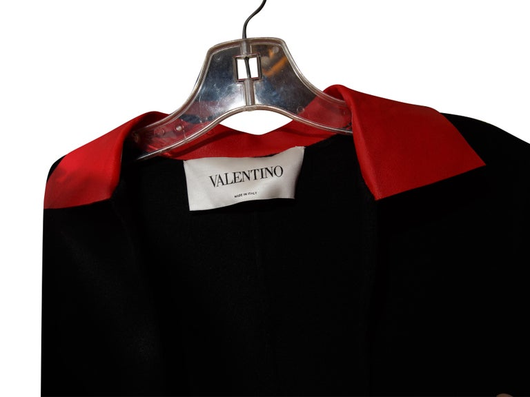 Women's Valentino Black Long Wool Coat For Sale