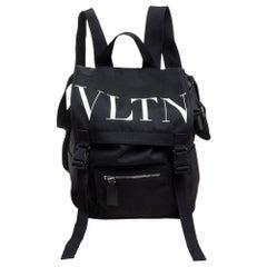 Valentino Black Nylon VLTN Backpack