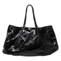 Valentino Black Patent Leather Hobo