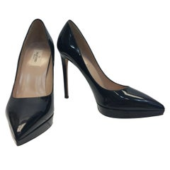 Valentino Black Patent Leather Pumps