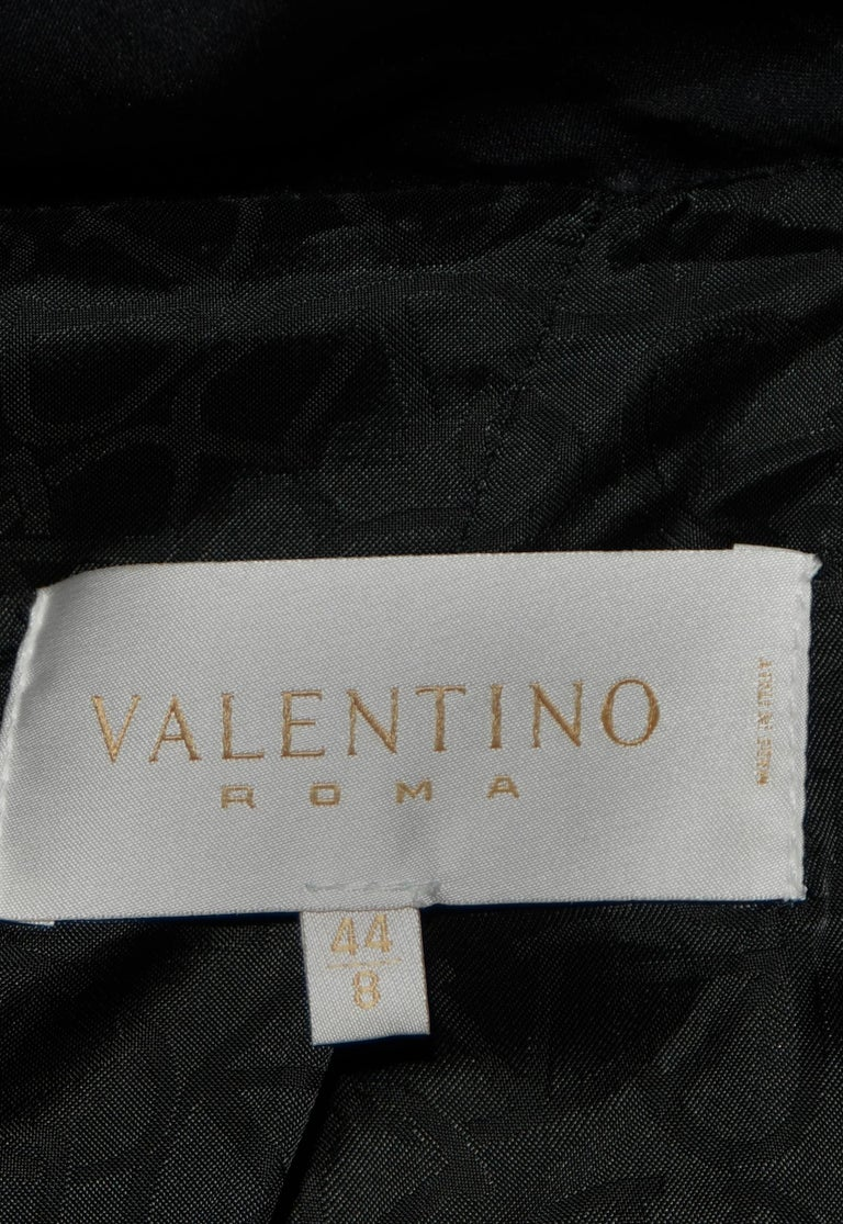 Valentino Black Puffer Jacket with Ruffle Collar & Cuffs For Sale 1