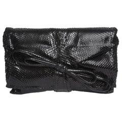 Valentino Black Python Bag Or Clutch