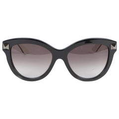 Valentino Black Stud Cat-Eye Sunglasses