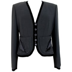 Valentino Black Velvet Bolero Jacket 1990s