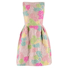 Valentino Blush Multi-Colour Floral Brocade Silk Dress SIZE 38 FR
