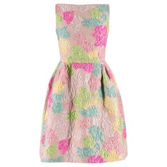 Valentino Blush Multi-Colour Floral Brocade Silk Dress SIZE - Size US 6