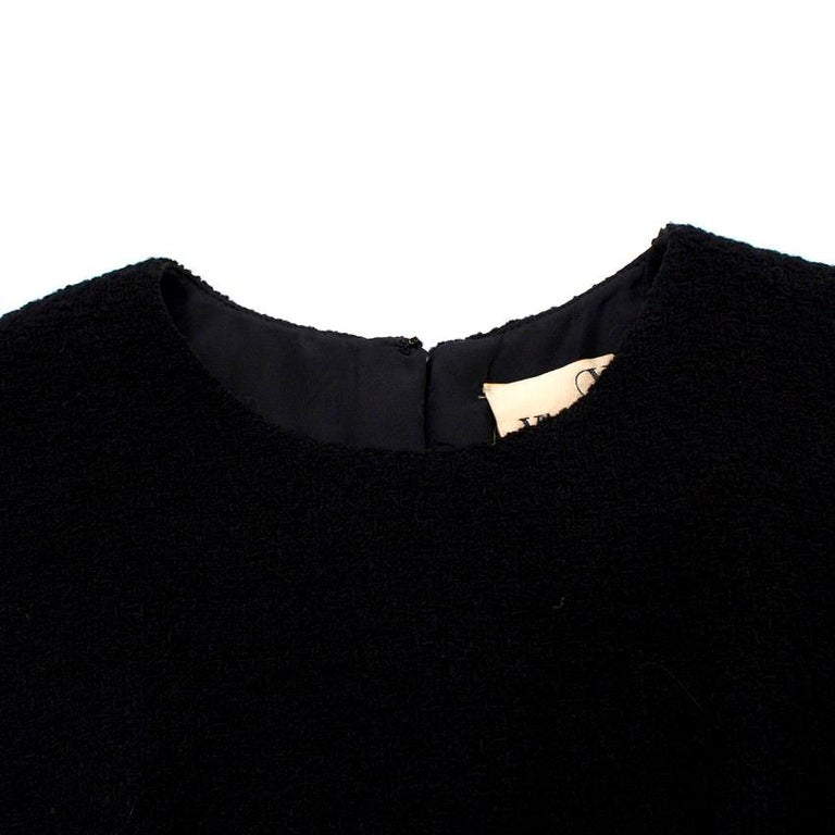 Women's Valentino Boutique Black Fitted Wool Dress US 6 For Sale